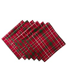Tartan Holly Plaid Napkin, Set of 6