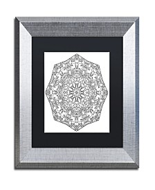"Kathy G. Ahrens Sublime Mandala Matted Framed Art - 16"" x 16"" x 0.5"""