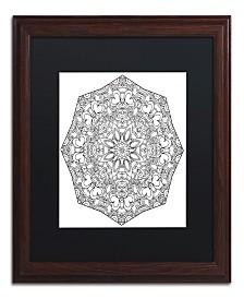 "Kathy G. Ahrens Sublime Mandala Matted Framed Art - 16"" x 16"" x 0.5"""