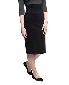 YALA Geneva Organic Cotton and Viscose from Bamboo Midi Pencil Skirt