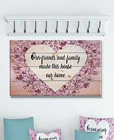 "Design Art 'Our friends and family made this house our home.' Wood Wall Art - 40"" x 20"""