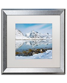 """Michael Blanchette Photography Fjord Reflection Matted Framed Art - 1"""" x 11"""" x 14"""""""