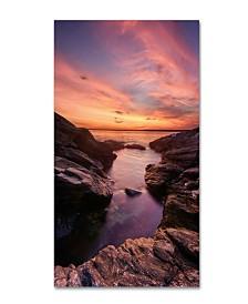 "Michael Blanchette Photography Beavertail Sunset Canvas Art - 2"" x 35"" x 47"""