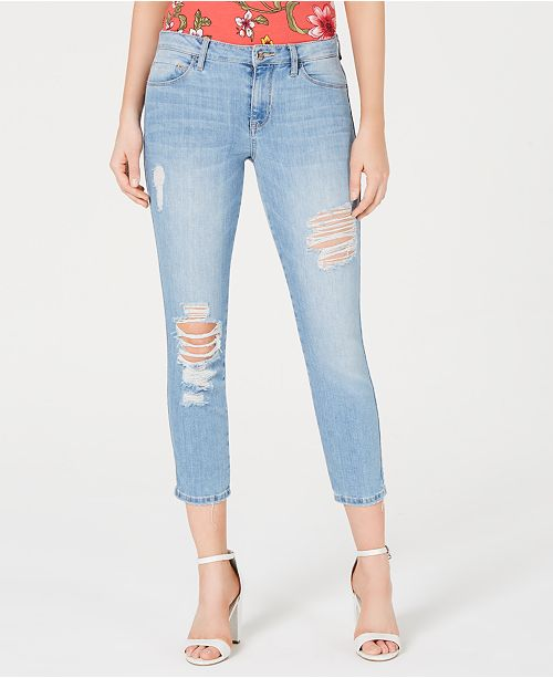 how to find detailed look uk cheap sale Sexy Curve Ripped Cropped Jeans