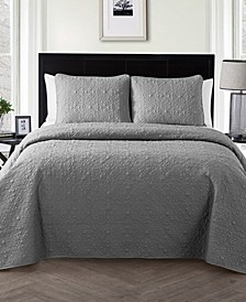 Caroline Embossed 3-Piece Full/Queen Quilt Set