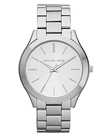 Unisex Slim Runway Stainless Steel Bracelet Watch 42mm MK3178