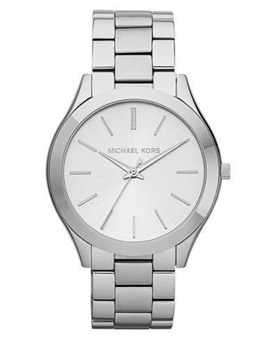 Michael Kors Unisex Slim Runway Stainless Steel Bracelet Watch 42mm MK3178