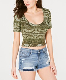 GUESS Carolina Scoop-Neck Crop Top