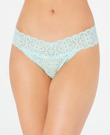 Jenni All Over One Size Lace Thong Underwear, Created for Macy's
