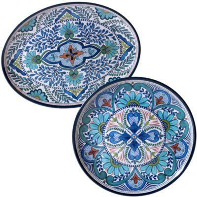 Talavera 2-Pc. Melamine Platter Set