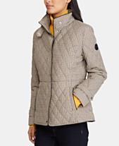 a08138fb83df Lauren Ralph Lauren Quilted Houndstooth Jacket