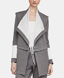 BCBGMAXAZRIA Two-Tone Wrap Jacket