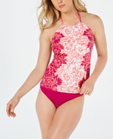 Lauren Ralph Lauren Printed Tankini Top & Brief Bottoms