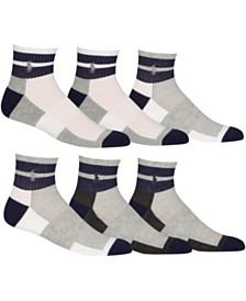 Polo Ralph Lauren 6-Pk. Athletic Quarter Socks