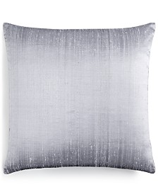 "Small World Home Jetrich Canada Dupioni Silver 20"" x 20"" Decorative Pillow"