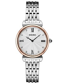 Women's Crystals Two-Tone Stainless Steel Bracelet Watch 29.6mm