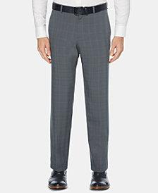 Perry Ellis Men's Portfolio Modern-Fit Performance Stretch Moisture-Wicking Plaid Non-Iron Dress Pants