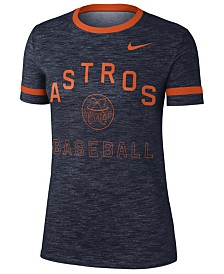 Nike Women's Houston Astros Slub Crew Ringer T-Shirt