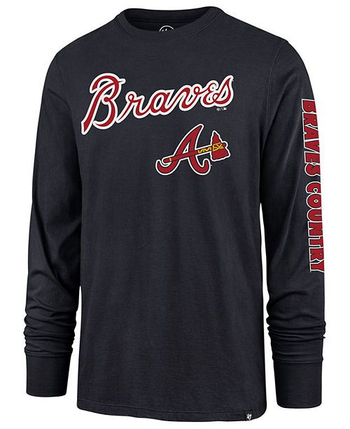 uk availability ec068 bb1d1 Men's Atlanta Braves Rival Local Long Sleeve T-Shirt