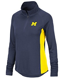 Colosseum Women's Michigan Wolverines Albi Quarter-Zip Pullover