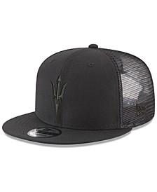 Arizona State Sun Devils Black on Black Meshback Snapback Cap
