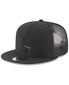 Louisville Cardinals Black on Black Meshback Snapback Cap