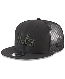 New Era UCLA Bruins Black on Black Meshback Snapback Cap