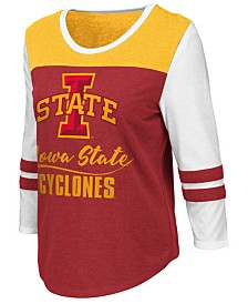 Colosseum Women's Iowa State Cyclones Colorblocked Raglan T-Shirt