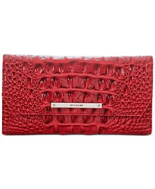 Soft Checkbook Carnation Melbourne Embossed Leather Wallet- Created For Macy's