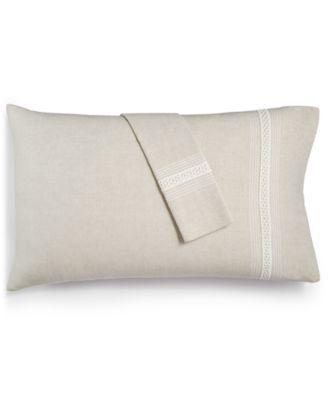 Madison Hemstitch Standard Pillowcase Pair, Created for Macy's