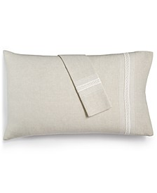 Madison Hemstitch Standard Pillowcase Pair, Created for Macy's