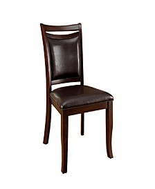 Woodside Transitional Side Chair with Padded Back and Seat - Set Of 2