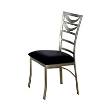Contemporary Side Chair with Black Micro Fabric Cushion - Set Of 2