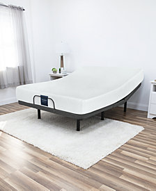 "MacyBed 8"" Firm Memory Foam Mattress PLUS Remote Controlled Adjustable Base, Quick Ship, Mattress in a Box - Twin XL"
