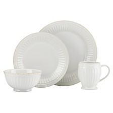 Lenox French Perle Groove 4 Piece Place Setting