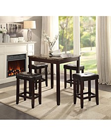Ainsley 5-Piece Counter Height Set