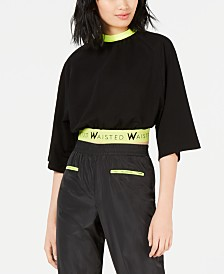 Waisted Neon-Trim Boxer Top
