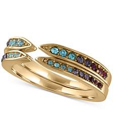 Gold-Tone 2-Pc. Set Multi-Stone Statement Rings