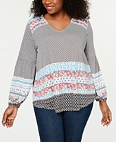 77e012cb975b2b Style   Co Plus Size Bishop-Sleeve Top