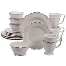 Vintage Cream 16-Pc. Dinnerware Set