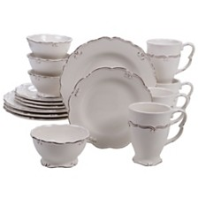 Certified International Vintage Cream 16-Pc. Dinnerware Set