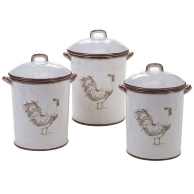 Toile Rooster 3-Pc. Canister Set
