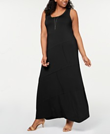 Style & Co Plus Size Sleeveless Seamed Maxi Dress, Created for Macy's