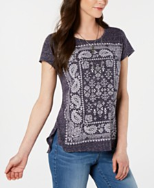 Style & Co Petite Graphic Top, Created for Macy's