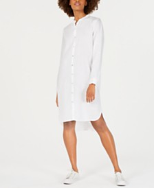 Eileen Fisher Organic Linen Shirtdress, Regular & Petite