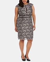 c4baaaf39cf Nightway Plus Size Glitter Lace Sheath Dress
