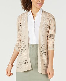 Charter Club Open-Stitch Cardigan Completer Sweater, Created for Macy's