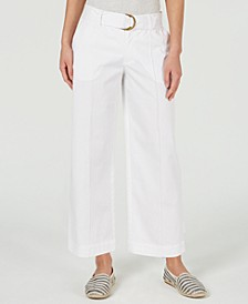 Wide-Leg Belted Pants, Created for Macy's