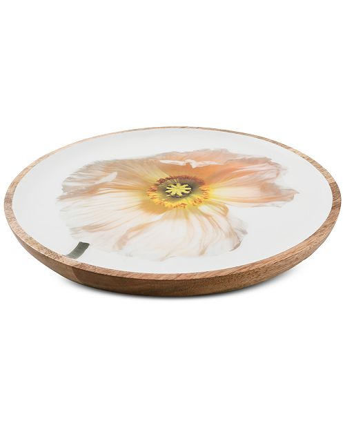 Thirstystone CLOSEOUT! Congo Sunset Poppy Wood and Enamel Serving Tray
