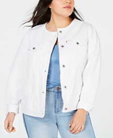 Levi's® Trendy Plus Size Cotton Denim Trucker Jacket